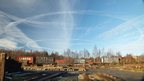 Contrails over Tanfield railway taken by Colin Fowler in November.
