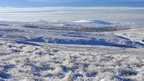 Snowy view of Cross Fell