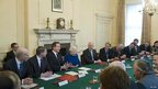 David Cameron opens the cabinet meeting