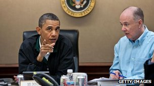 Tom Donilon with President Barack Obama
