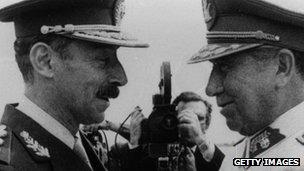 Argentine President Videla and Chilean President Pinochet