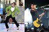 Psy and Billie Joe from Green Day