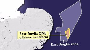 East Anglia One map