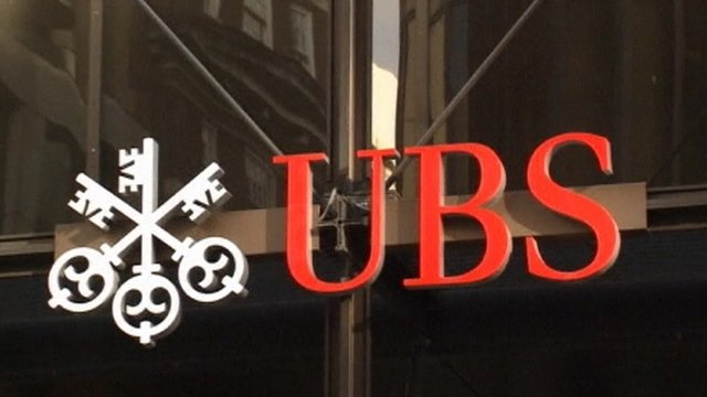 UBS logo on building