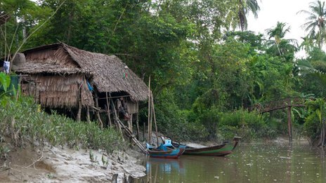 Riverside home in the Irrawaddy Delta