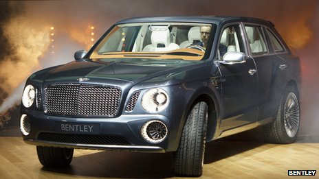 Bentley SUV concept vehicle