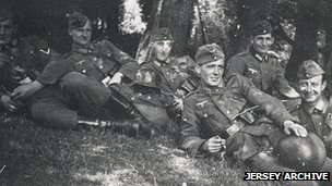 German soldiers in Jersey