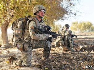 British troops on patrol