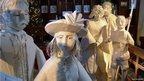 Paper Victorian carol singers