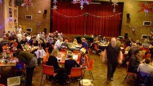 Church Christmas meal 2011