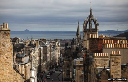 View of Edinburgh's Royal Mile