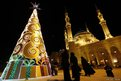 Christmas tree and a mosque 