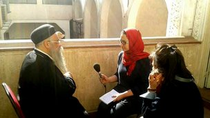 Shaimaa Khalil interviews Father Augustinos, head priest of St George and St Anthony Coptic Church