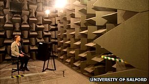 A silent anechoic chamber