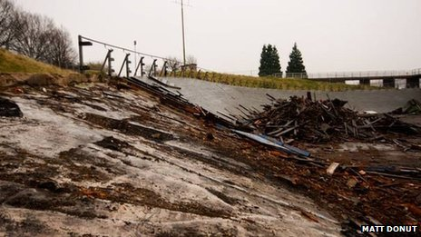 Saffron Lane track being demolished