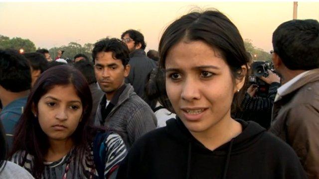 Delhi bus gang rape protestor