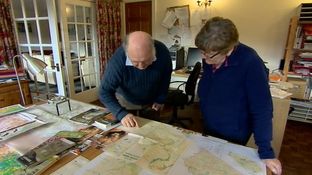 The Watsons ended up mapping Kenyan wildlife parks after getting lost in the Masai Mara reserve