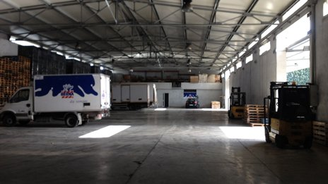 Inside Euromilk warehouse