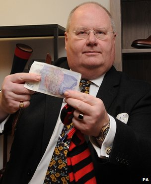 Eric Pickles at a pop-up shop in his Whitehall department