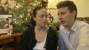 Parents Rhiannon Davies and Richard Stanton