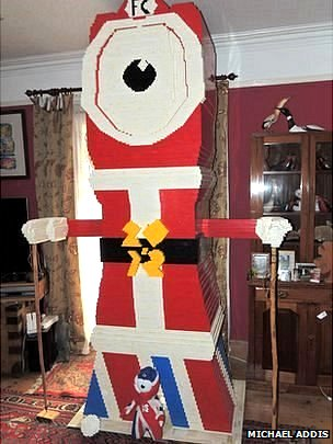 Wenlock 2012 mascot made out of Lego