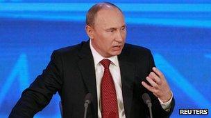 President Vladimir Putin, 20 Dec 12