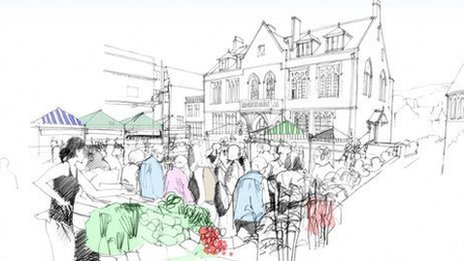 Minehead Hospital artist's sketch of revamp