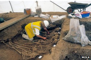 MOLA excavation at Spitalfields