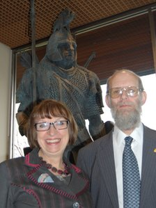 Nina Dawes and Dr David Symons