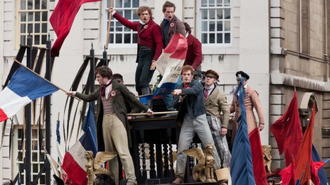 A scene from Les Miserables