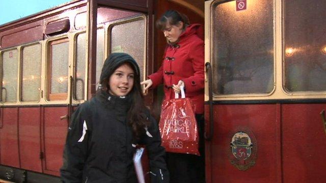 Steam Train does the school run