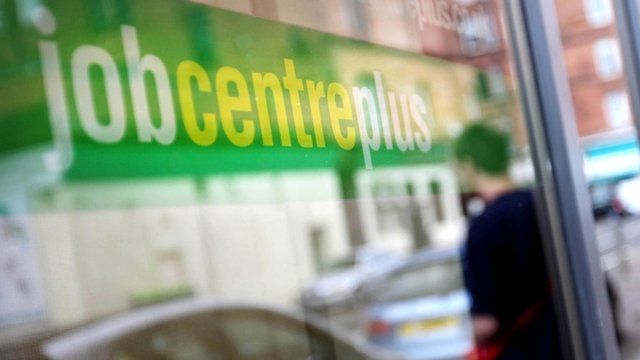 Job Centre Plus sign in window