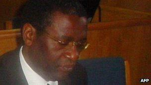 A picture taken on 10 October 2008 shows former Rwandan planning minister Augustin Ngirabatware