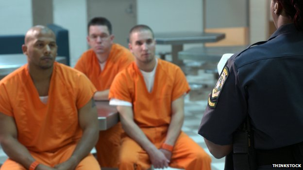US prisoners with a guard (stock picture)