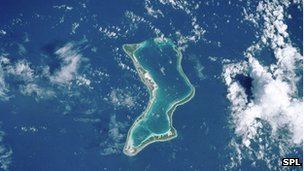 A coral atoll in the Chagos Islands