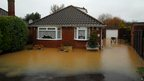 Flooded property in Emsworth, Hampshire