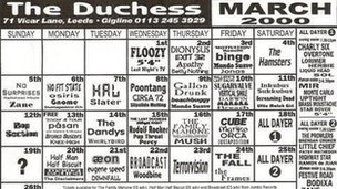 A flyer for the Duchess in Leeds