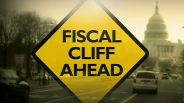 Fiscal cliff graphic