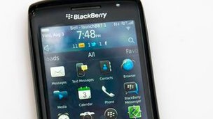 Blackberry handset