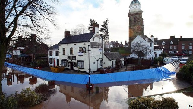 Upton-upon-Severn in flood