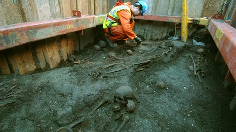 Crossrail dig unearths ancient London