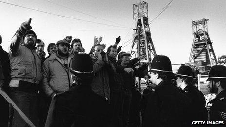 Kent miners on strike, 1985
