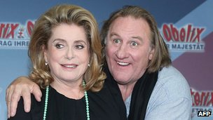 Catherine Deneuve and Gerard Depardieu, 1 Oct 12