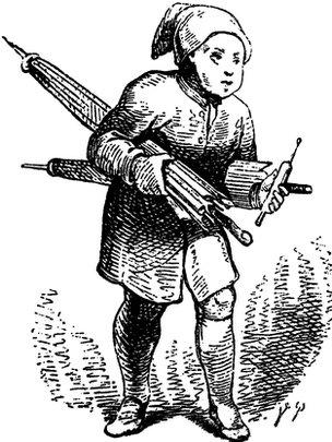 "Illustration of The Sandman by Vilhelm Pedersen for the fairytale ""Ole Lukoje"" by HC. Andersen"
