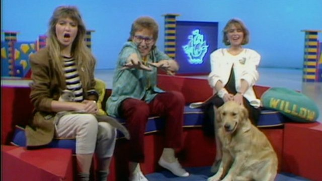 Caron Keating, Mark Curry and Yvette Fielding on Blue Peter