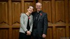 The Bishop of Durham, and the newly appointed Archbishop of Canterbury, Justin Welby, poses for the media with his wife Caroline, at Lambeth Palace in London