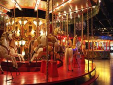 Carousels in the Musee des Arts Forains, Paris