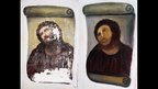 "Ecce Homo (Behold the Man) by Elias Garcia Martinez and the ""restored"" work by Cecilia Gimenez"