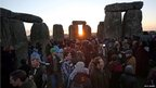 Druids, pagans and revellers taking part in the winter solstice ceremony