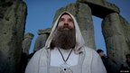 A druid at Stonehenge for the winter solstice ceremony